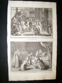 Picart C1730 Folio Antique Print. Religious Catholic Confession